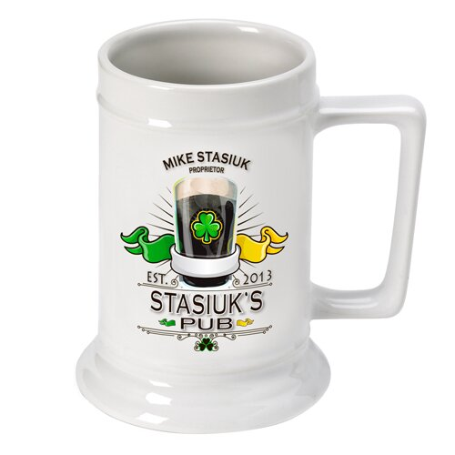 Personalized Gift Beer Stein 16 oz. Ceramic by JDS Personalized Gifts