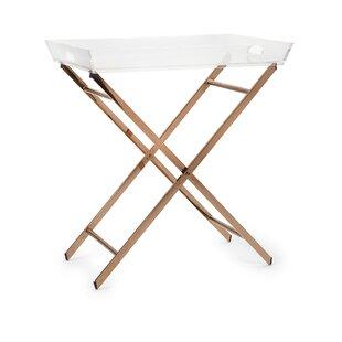 Kallie Acrylic Tray Table by Everly Quinn