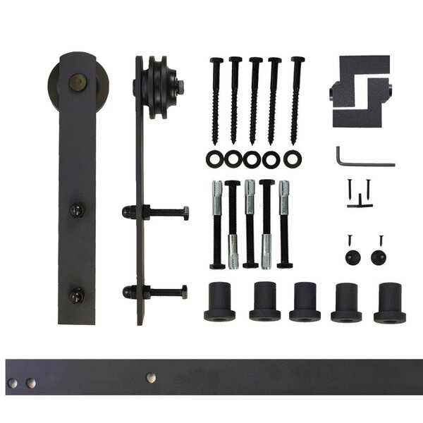 Single Door Straight Design Barn Door Hardware Set by Vancleef