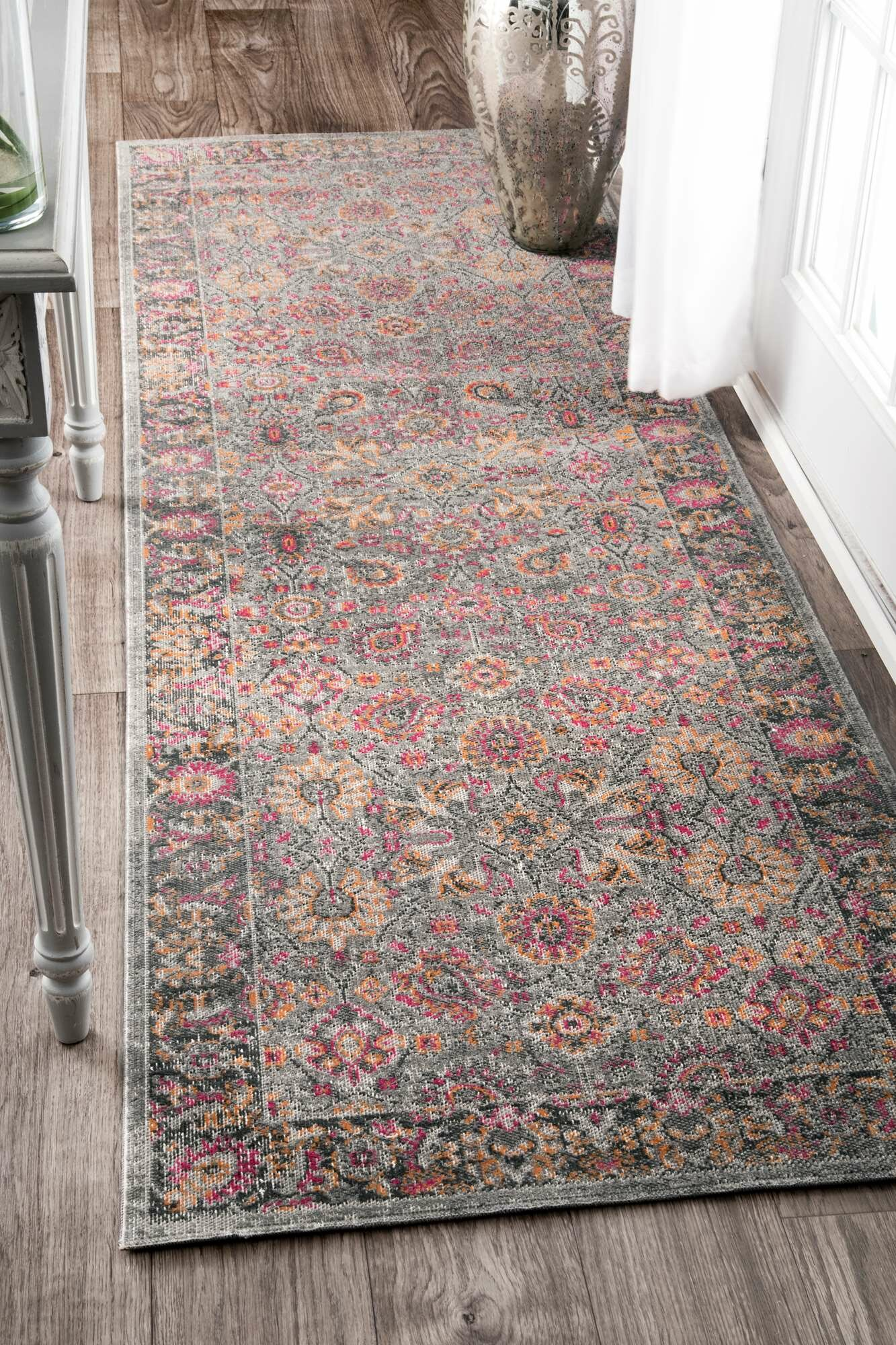 Bungalow Rose Khalil Pinkgray Area Rug Reviews Wayfair