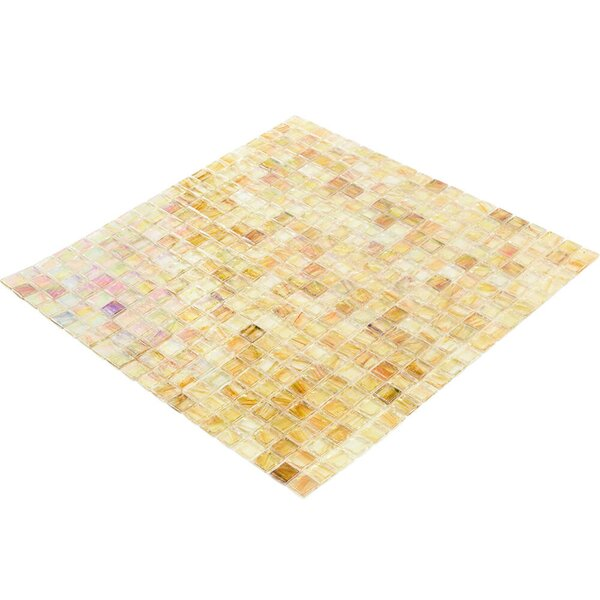 Breeze 0.62 x 0.62 Glass Mosaic Tile in Yellow/Orange by Splashback Tile