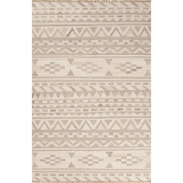 Devries Ivory/Neutral Area Rug by Mercury Row