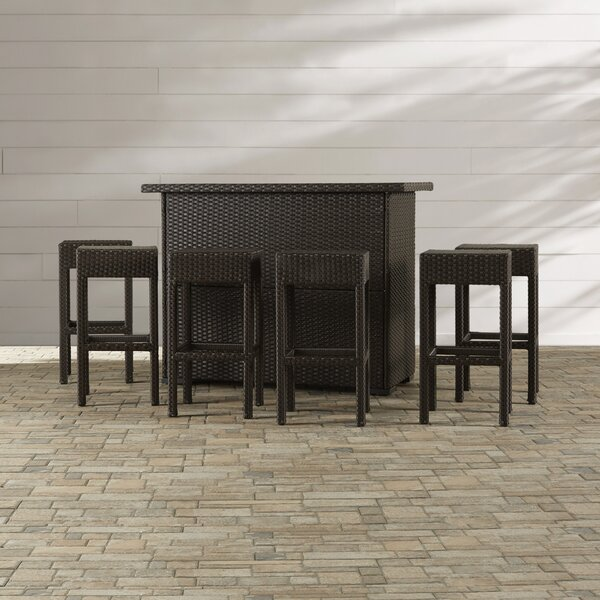 Silverton 7 Piece Outdoor Dining Set by Wrought Studio