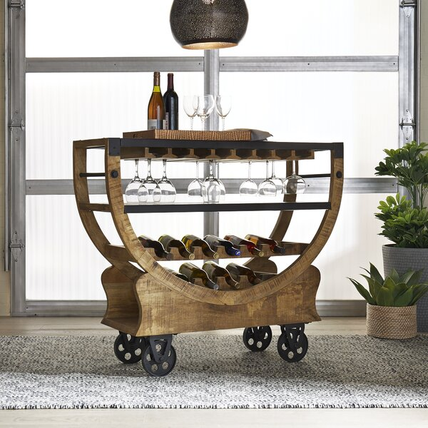 Lincolnton Bar with Wine Storage by Gracie Oaks Gracie Oaks