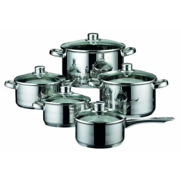 Skyline 10 Piece Induction Stainless Steel Cookware Set by Westmark