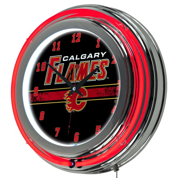Nhl Neon 14 5 Wall Clock By Trademark Global.