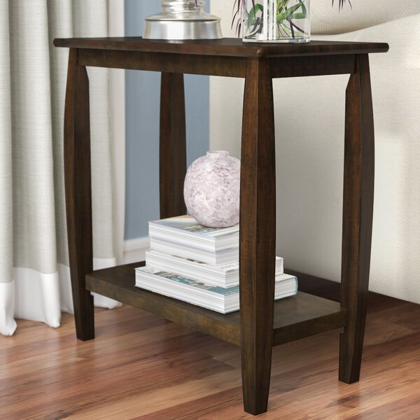 Vandewa Solid Wood End Table With Storage By Andover Mills™
