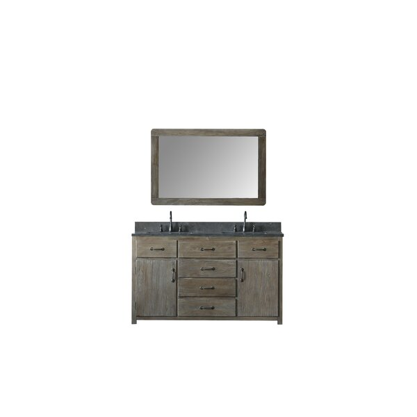 Warm Springs Solid Elm 60 Bathroom Vanity Set with Mirror by Laurel Foundry Modern Farmhouse