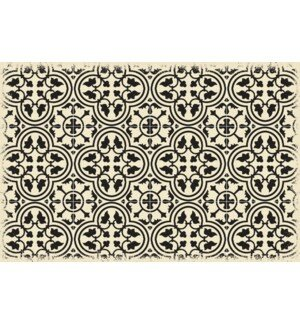 Colten Ring of European Design Black/White Indoor/Outdoor Area Rug by Charlton Home