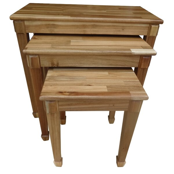 Bissette 3 Piece Nesting Table Set by Alcott Hill