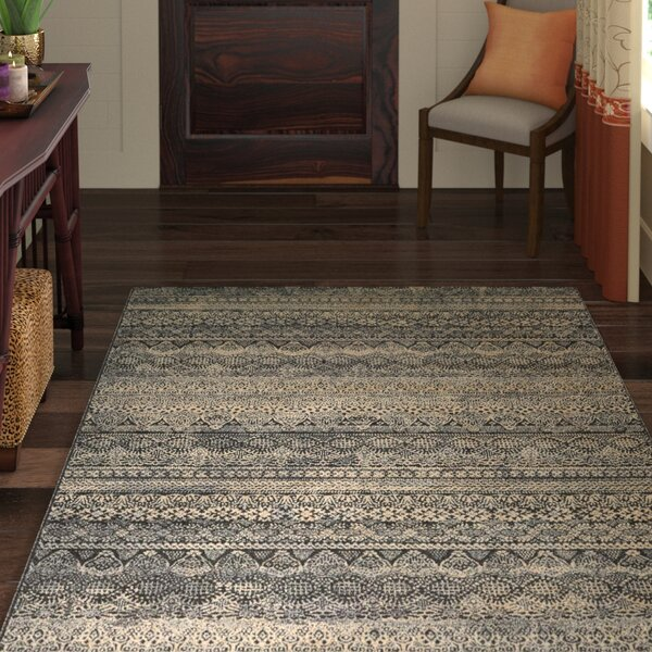 Amasa Black/Gray Area Rug by World Menagerie