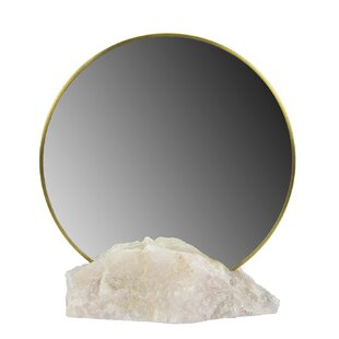 Bungalow Rose Bayer Quartz Ashwood Accent Mirror
