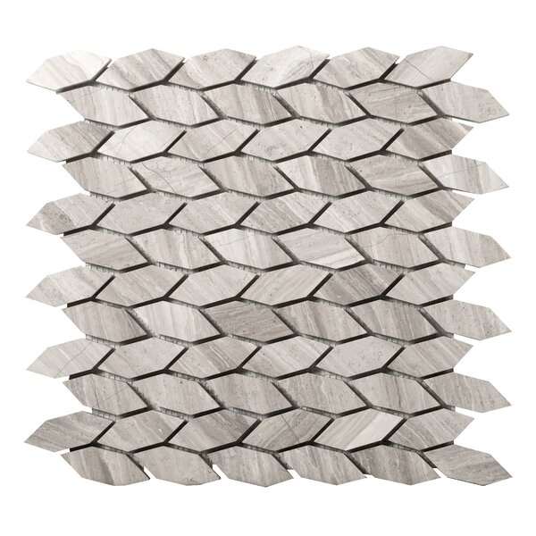Metro Marquise 1 x 2 Marble Mosaic Tile in Gray by Emser Tile