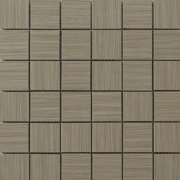 Strands 2 x 2/12 x 12 Porcelain Mosaic Tile in Olive by Emser Tile
