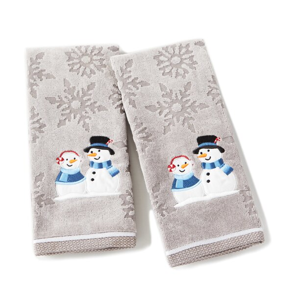 Brand Peppermint Couple Cotton Hand Towel (Set of 2) by The Holiday Aisle