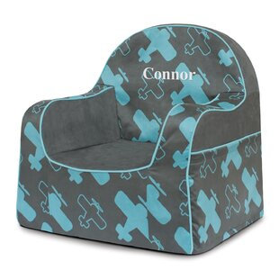 Read Reviews Little Reader Personalized Kids Foam Chair with Storage Compartment By P'kolino