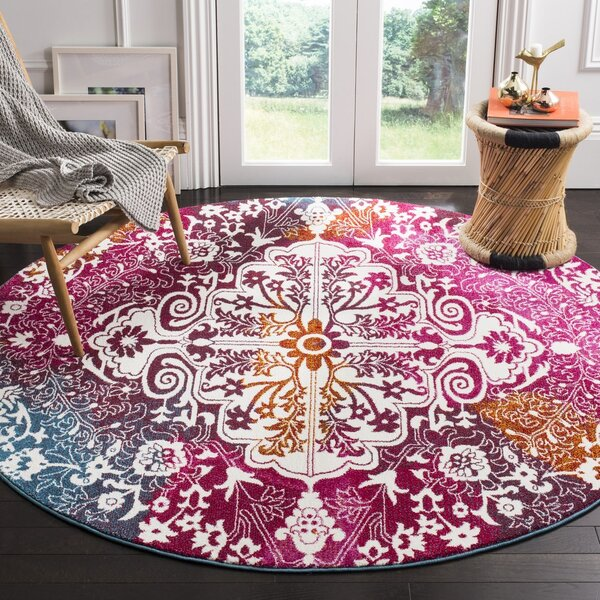 Shaurya Beige/Pink Area Rug by Bungalow Rose