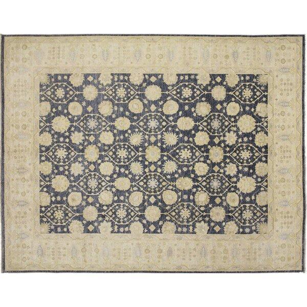 One-of-a-Kind Romona Hand-Knotted Blue Area Rug by Isabelline