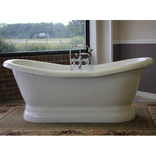 Empress 68 x 30 Freestanding Soaking Bathtub by Restoria Bathtub Company