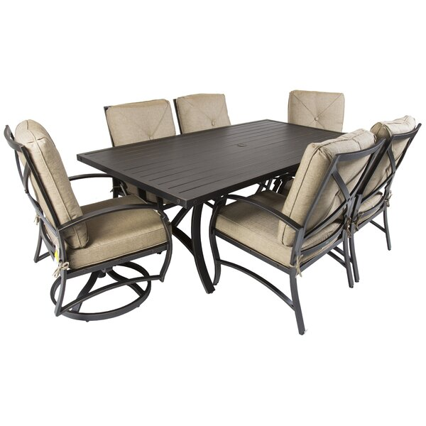 Gadd 7 Piece Dining Set with Cushions by Red Barrel Studio
