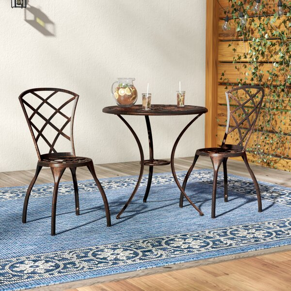 Hearst 3 Piece Bistro Set By Charlton Home