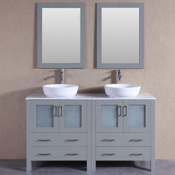 Maili 59 Double Bathroom Vanity Set with Mirror by Bosconi