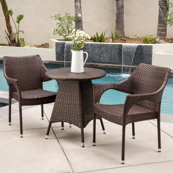 Getchell 3 Piece Bistro Set by Ebern Designs