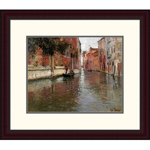 'A Venetian Backwater' by Frits Thaulow Framed Painting Print by Global Gallery