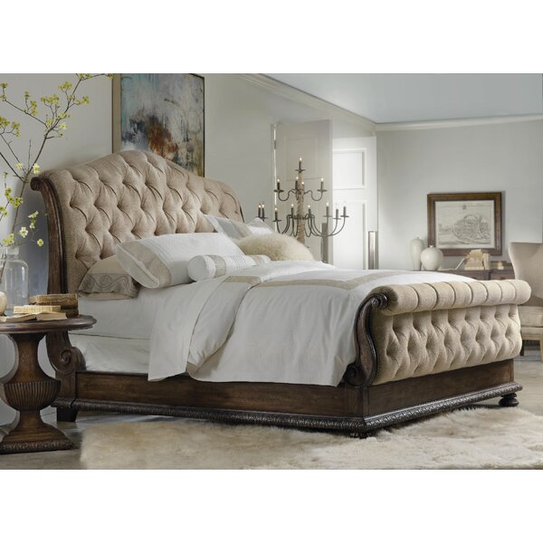 Taryn Upholstered Sleigh Bed by Hooker Furniture