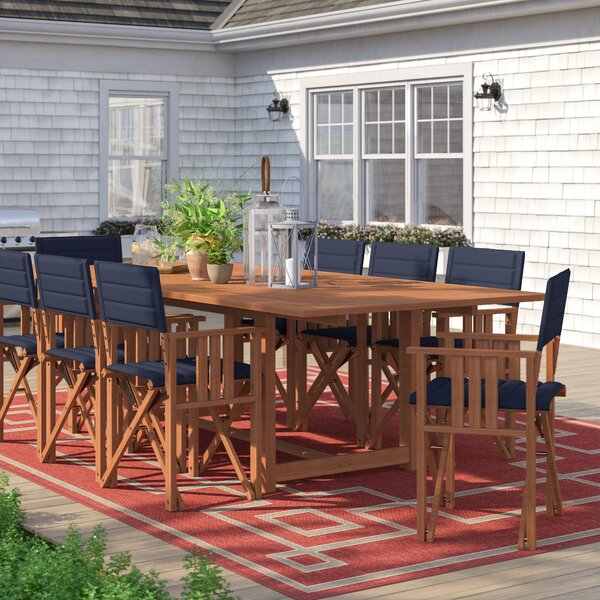 Brighton 9 Piece Dining Set with Cushion by Sol 72 Outdoor