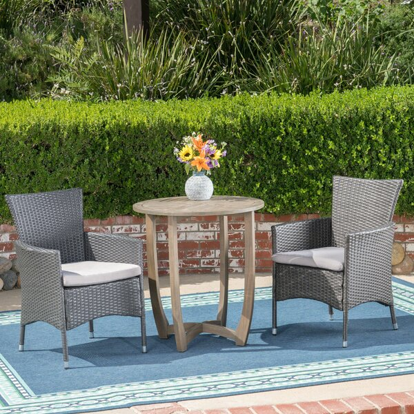 Matos 3 Piece Bistro Set with Cushions by Ivy Bronx