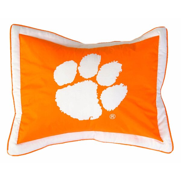 NCAA Clemson Pillow Sham by College Covers