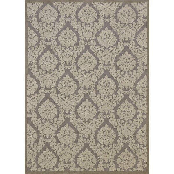 Weissport Silver & Ivory Area Rug by Three Posts