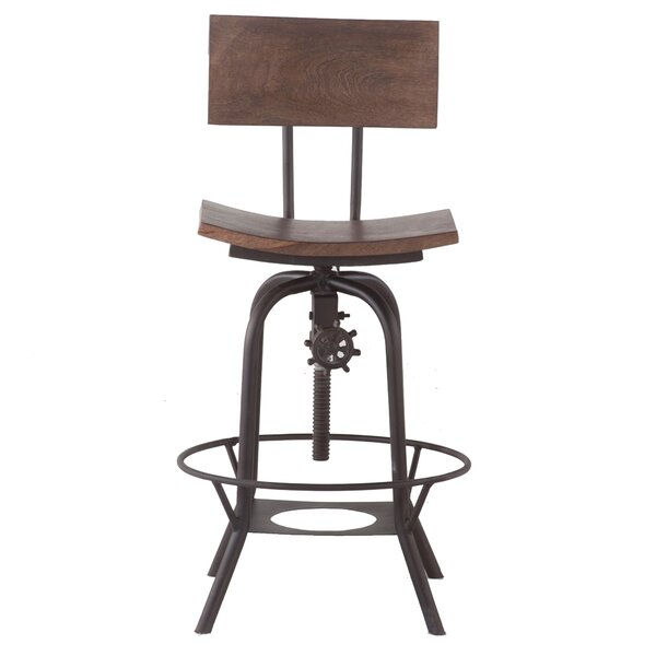 Mott Street Adjustable Swivel Bar Stool by Williston Forge| @ $374.00