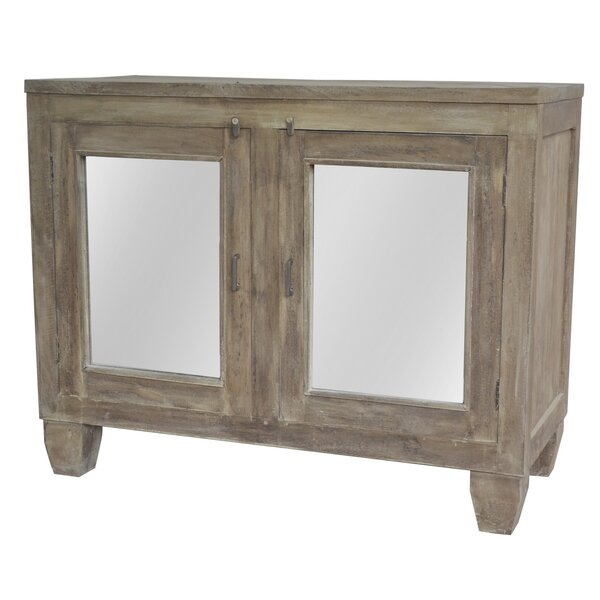 Joshua Mirrored 2 Door Accent Cabinet by A&B Home