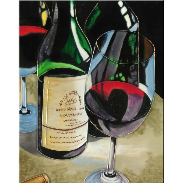 Wines Tile Wall Decor by Continental Art Center