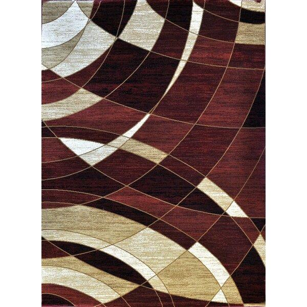 Giancarlo Burgundy Area Rug by Ebern Designs
