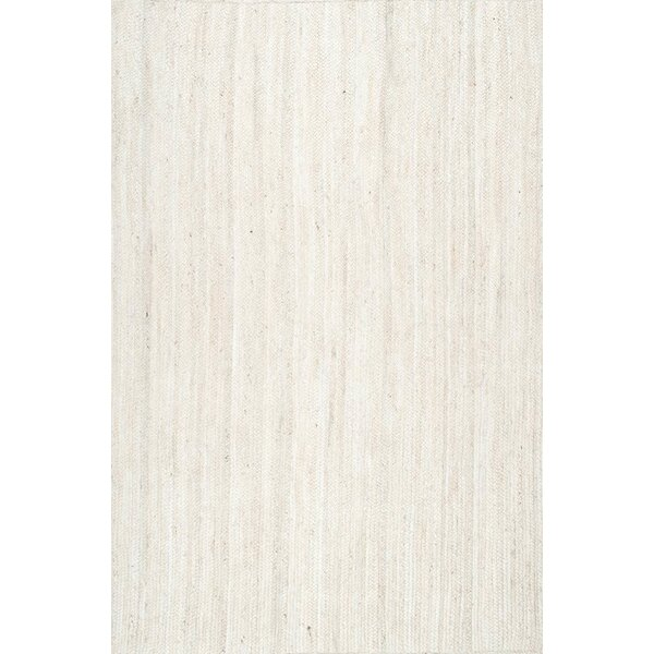Burrillville Hand-Woven White Area Rug by Beachcrest Home