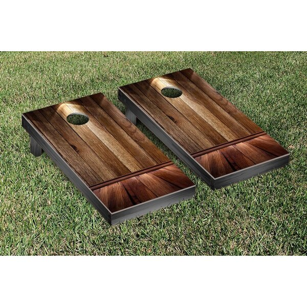 Wooden Spotlight Themed Cornhole Game Set by Victory Tailgate