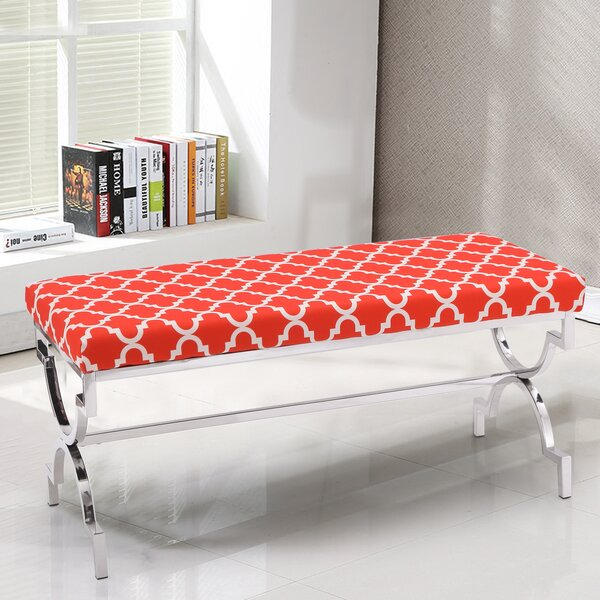 Palazzo Fabric Cushion Upholstered Bench by Mercer41