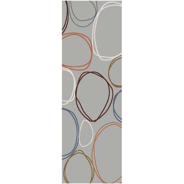 Deveau Gray Area Rug by Ebern Designs