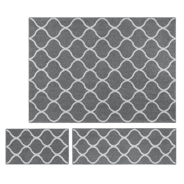 Check Price Hershman 3 Piece Gray Area Rug Set By