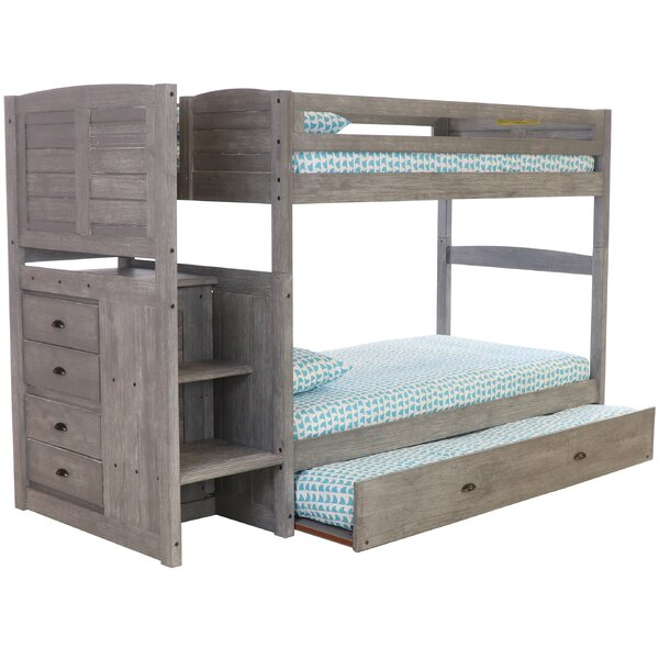 Goffredo Twin Over Twin Bunk Bed with Trundle and Drawers by Birch Lane™ Heritage