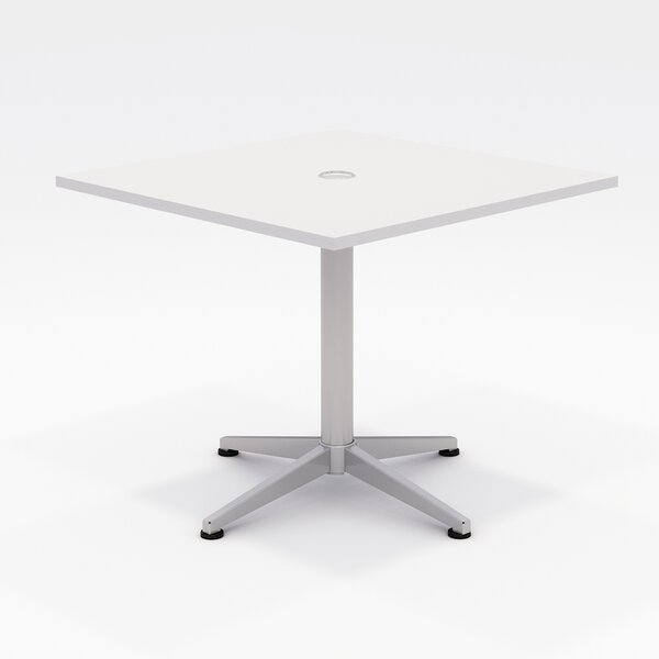 Workwell Square Pedestal Table by OlioDesigns OlioDesigns