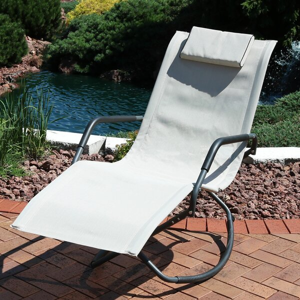 Cheadle Folding Lounger Rocking Chair with Cushions by Ebern Designs