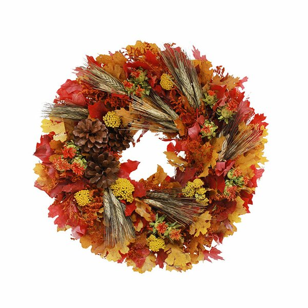 Dried Leaf Wreath by Andover Mills