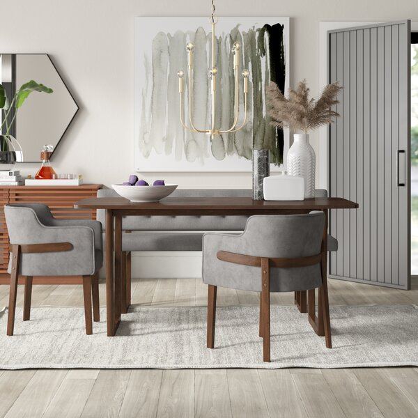 Mukai 4 Piece Dining Set by Mercury Row
