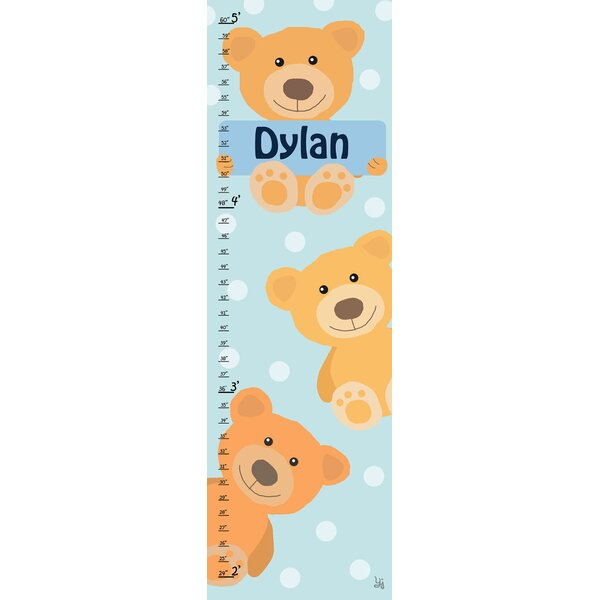Bears Personalized Growth Chart by Green Leaf Art