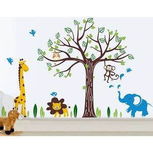 Elegant Happy Zoo Wall Decal Design