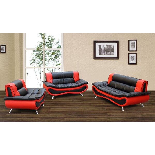 Feathers 3 Piece Living Room Set by Orren Ellis